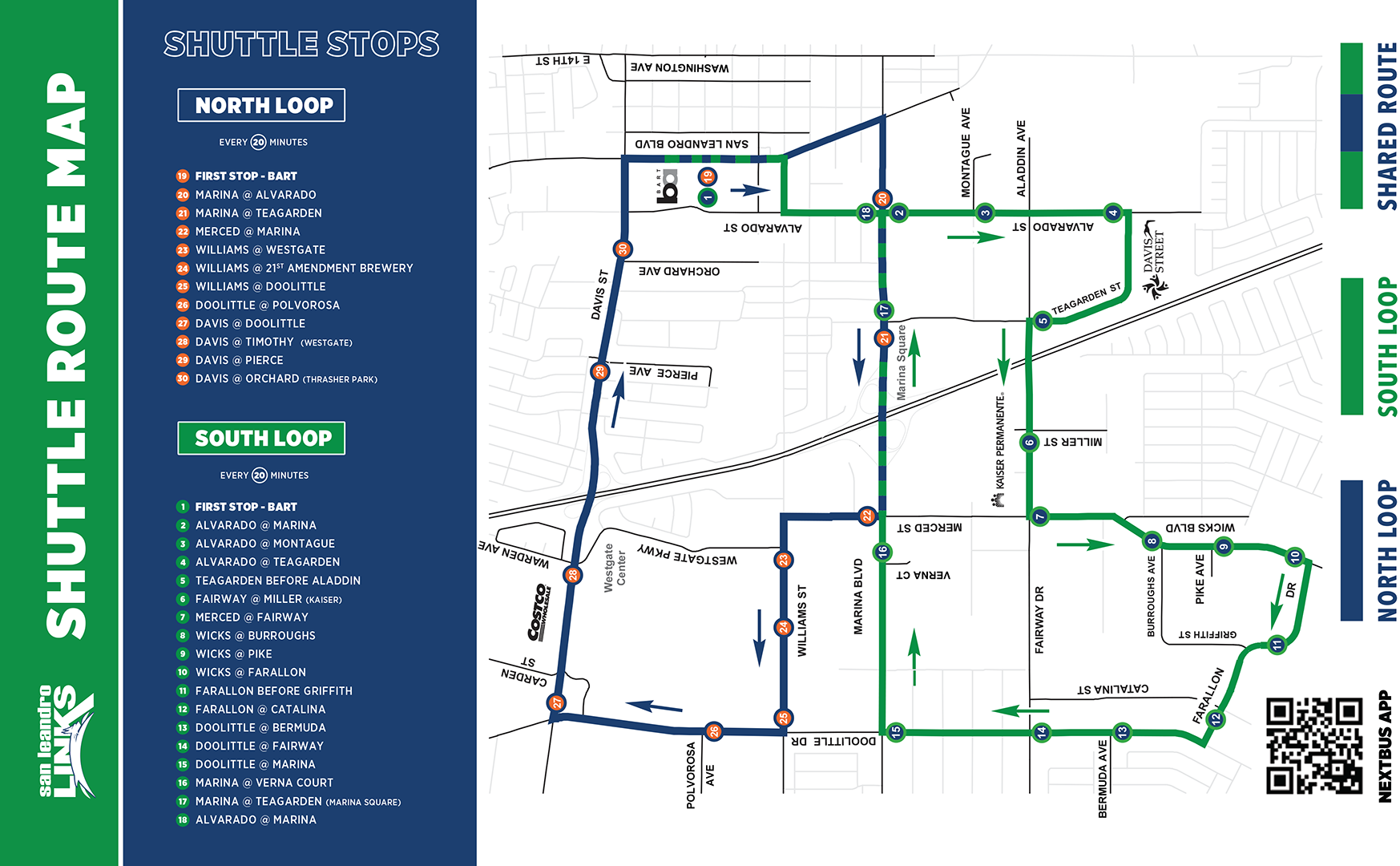 Shuttle Route Map